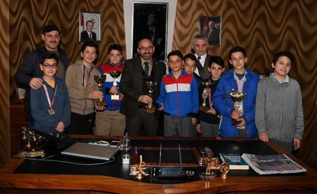 Bocce şampiyonları başkana çıktı