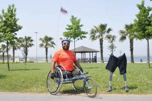 Engelli rekortmen omurilik felçlileri için koşacak