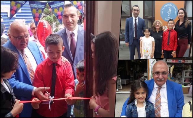 Körfez 100. Yıl Atatürk İlkokulu öğrencileri resim sergilerini açtı