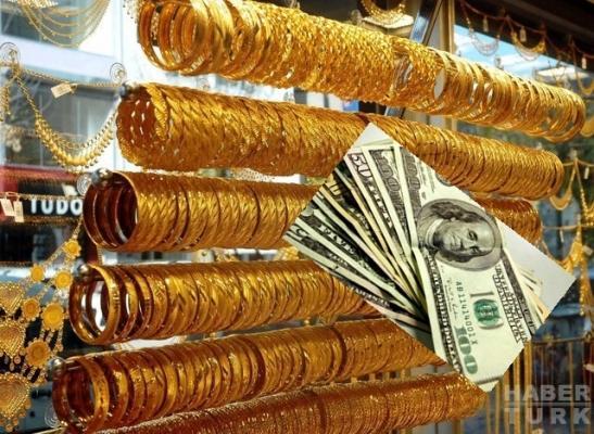 Altın yükselişte, dolar düşüyor