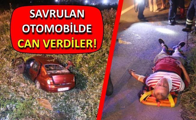 TIR'a çarpan otomobil şarampole yuvarlandı: 2 ölü, 3 yaralı