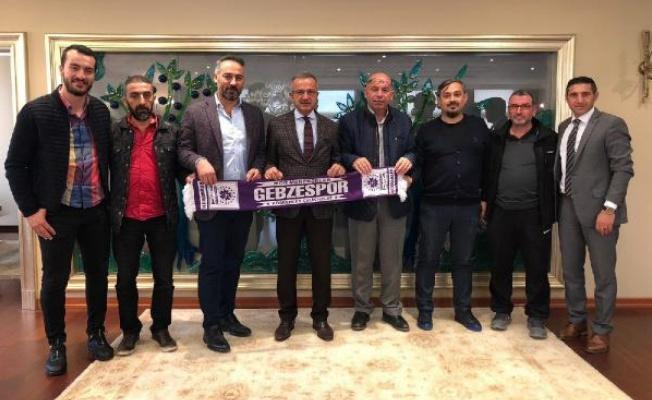 Gebzespor yönetiminden Başkan Köşker'e ziyaret!