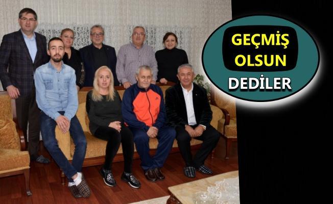 Başkan Cengiz Sarıbay ve yönetiminden Adnan Tok'a ziyaret