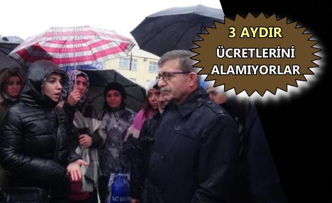 Gebze'de fabrika işçileri alacaklarının ödenmesini istedi