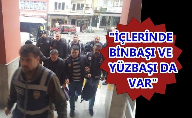 Kocaeli'de FETÖ'den gözaltına alınan 11'i muvazzaf 14 şüpheli adliyede