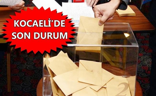 Kocaeli'den ilk seçim sonuçları geldi!