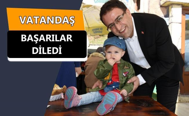 Sertif Gökçe 60 Evler Sahili'nde vatandaşla buluştu!