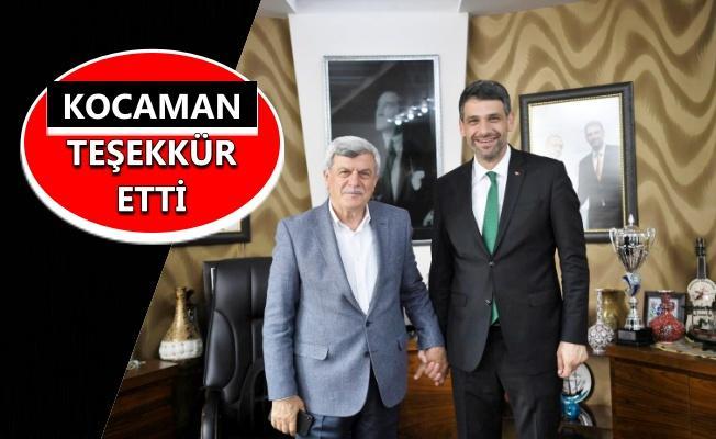 Karaosmanoğlu'ndan Kocaman'a hayırlı olsun ziyareti