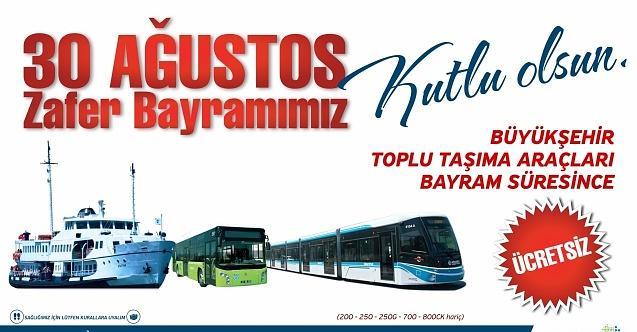 Kocaeli'de toplu ulaşım araçları bugün ücretsiz!