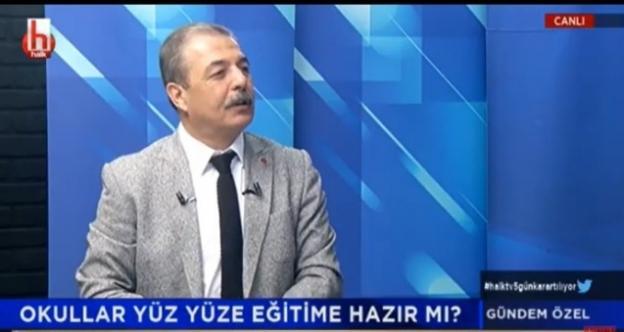 """Halk TV'de programa katılan Yıldırım sert çıktı: Kocaeli'de öğretmenlerimizi joker olarak kullandılar!"""""""
