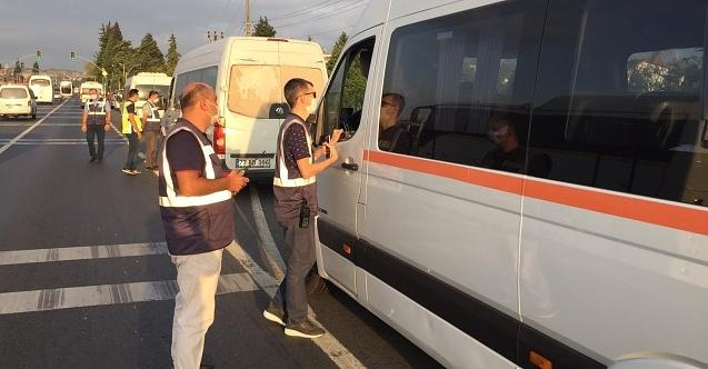 Kocaeli'de 14 araç 'korsan servis' yaptığı için trafikten men edildi!