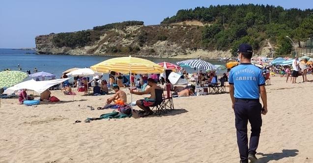 Plajlarda da denetimler devam ediyor