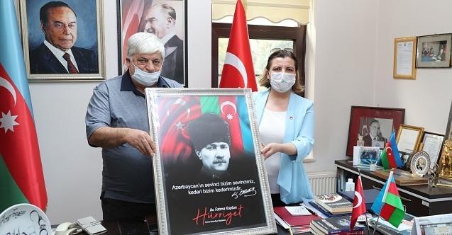 """Başkan Hürriyet'ten Azerbaycan'a destek  """"Kederiniz kederimizdir"""""""