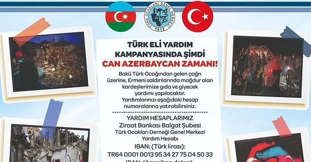 Türk Ocakları can Azerbaycan için yardım kampanyası düzenledi!