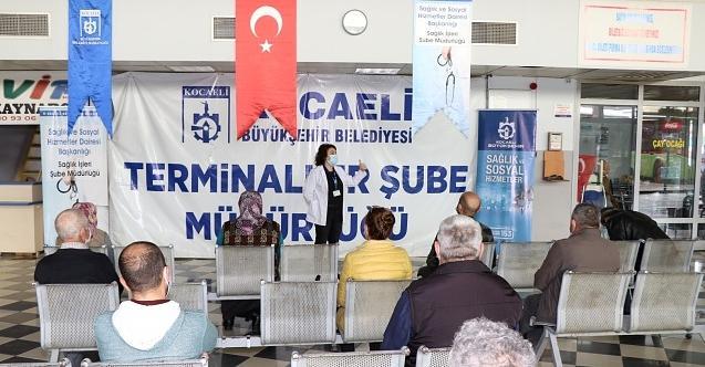 Otobüs Terminallerine Covid-19 eğitimi verildi!