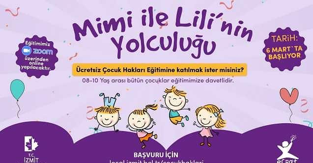 İzmit Belediyesi çocuklara haklarını Mimi ve Lili ile öğretecek