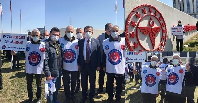 Sağlıkçılar Bakanlık önünde haykırdı!