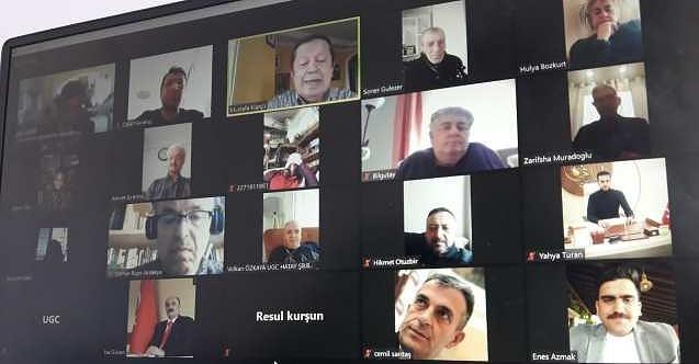 UGC-Uluslararası Gazeteciler Cemiyeti zoom üzerinden konferans düzenledi