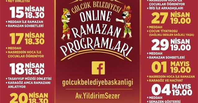 Gölcük Belediyesi'nden ramazan ayına özel online programlar var