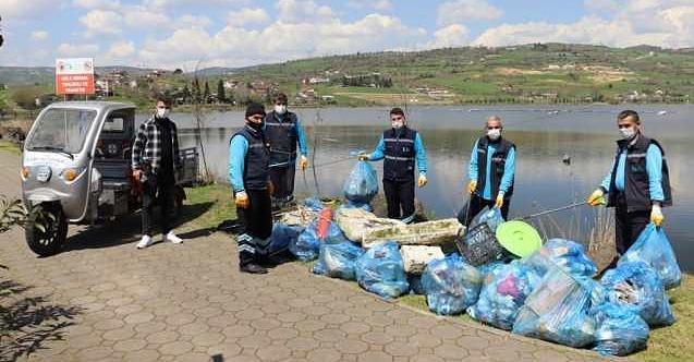 Gölkay Park'tan toplanan çöpler İzmit'e tasarruf olarak dönecek
