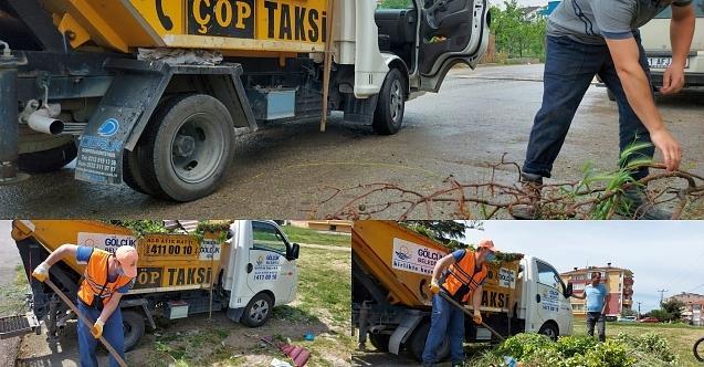 Çöp taksiler Gölcük'te kesintisiz görevde!
