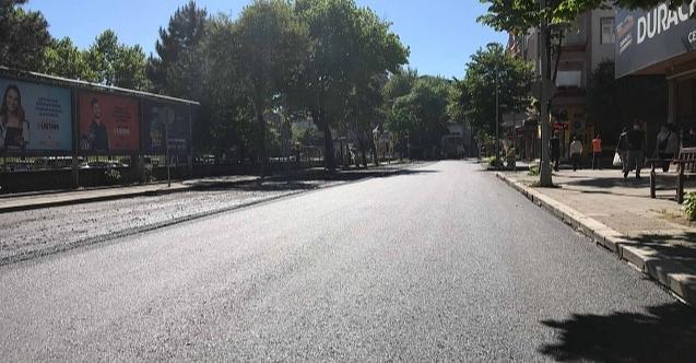 İzmit Bağdat Caddesi'nin asfaltı da tamamlandı