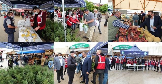 İzmit Belediyesi üst düzey yöneticileriYeşilova'da pazarcı esnafını dinledi