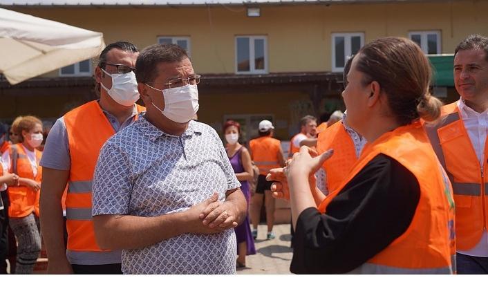 Başkan Hürriyet, Milas'ta koordinasyon merkezini ziyaret etti
