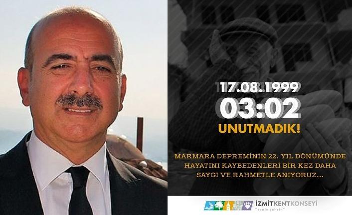 """İzmit Kent Konseyi Başkanı Erol """"İstanbul Depremi'nden korkuyor, kaygı duyuyoruz!"""""""