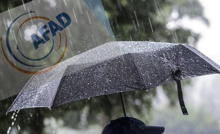 AFAD'dan Kocaeli dahil 7 il için 'çok kuvvetli' yağış uyarısı