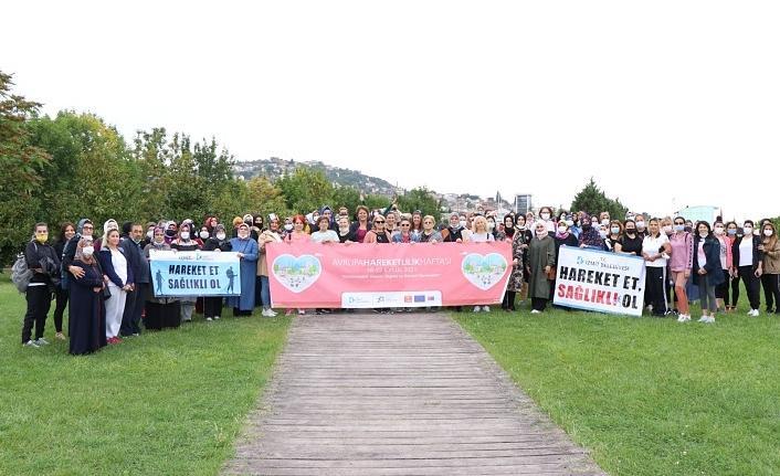 'Avrupa Hareketlilik Haftası' finali sağlık yürüyüşüyle yapıldı
