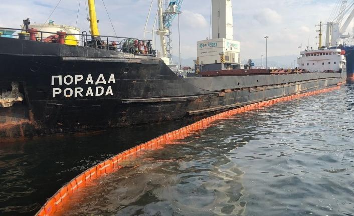 Derince Limanı'nda Körfez'i kirleten gemiye 1 milyon 286 bin TL ceza
