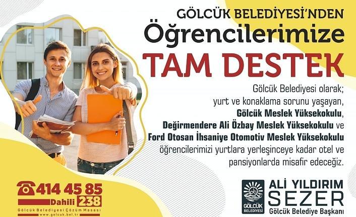İzmit Belediyesi gibi Gölcük Belediyesi de öğrencilere kucak açtı...