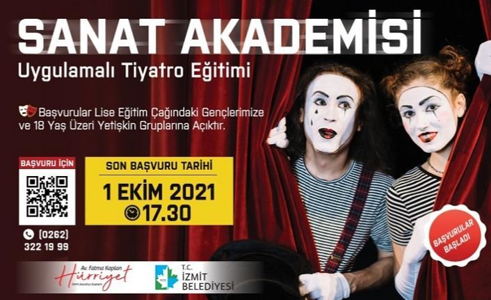 İzmit Belediyesi Sanat Akademisi'nde tiyatro eğitimleri başlıyor