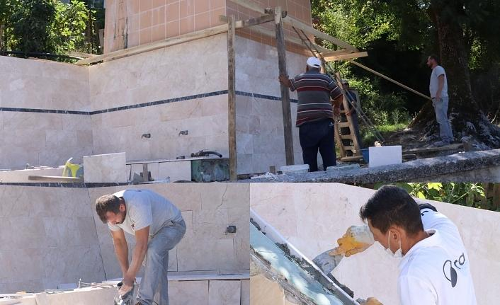 İzmit Belediyesi,köy çeşmelerini yeniliyor