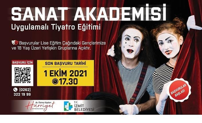 Sanat Akademisi Tiyatro Eğitimi başvurularında son gün yarın!