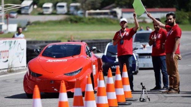 Türkiye'nin ilk sürücüsüz araç yarışı yapıldı
